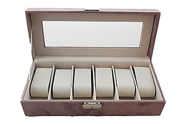 Skrin Klockor Sammet Rosa 30,5x13x7,5 cm