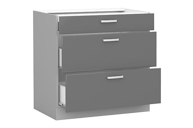 Bianco Skåp med lådor 80x52x82 cm - Vit - Möbler - Förvaring - Förvaringsskåp