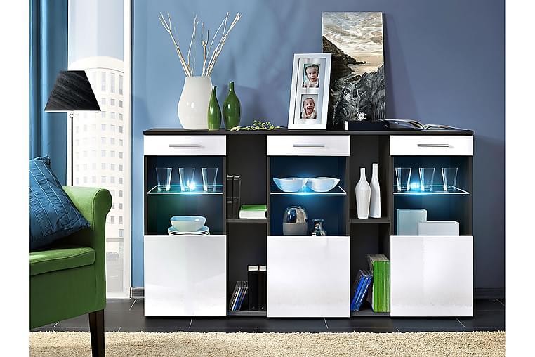 Dorade Skåp 160x40x92 cm LED-belysning - Vit - Möbler - Förvaring - Förvaringsskåp