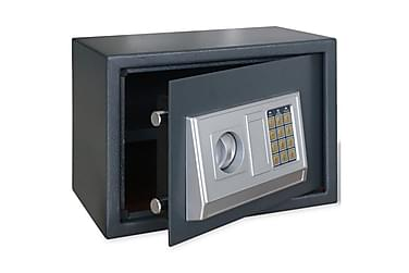 Elektroniskt kassaskåp med hylla 35 x 25 x 25 cm