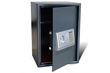 Elektroniskt kassaskåp med hylla 35 x 31 x 50 cm