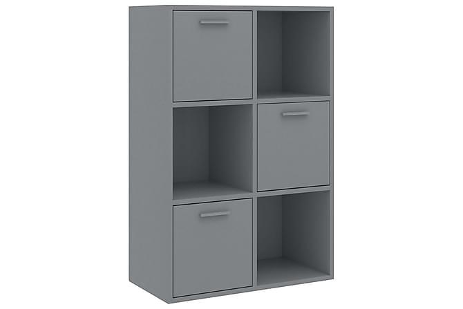 Förvaringsskåp grå 60x29,5x90 cm spånskiva - Grå - Möbler - Förvaring - Förvaringsskåp