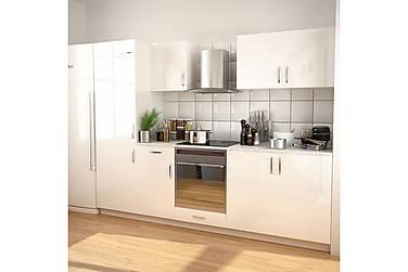 Köksskåp set 270 cm högglans vit