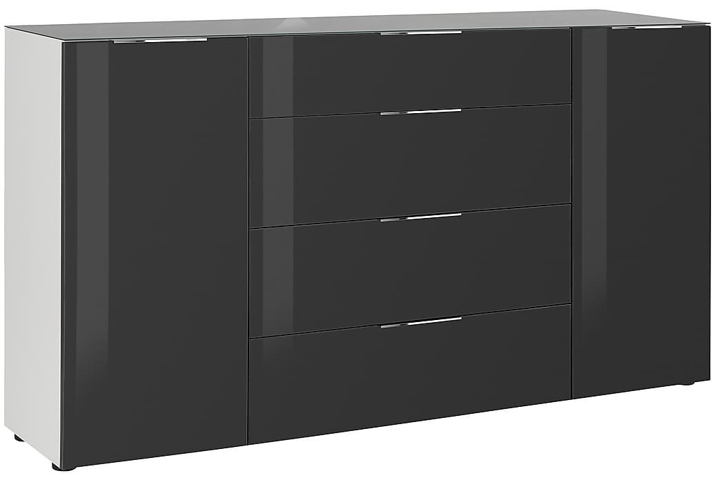 Laufeld Skänk 180.4x98.7 cm - Vit/Mörkgrått Glas - Möbler - Förvaring - Förvaringsskåp