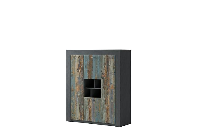 Noah Skåp 120x41x140 cm - Grå - Möbler - Förvaring - Förvaringsskåp
