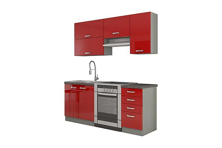 Rose Köksmöbel - Röd|Vit - Möbler - Förvaring - Förvaringsskåp