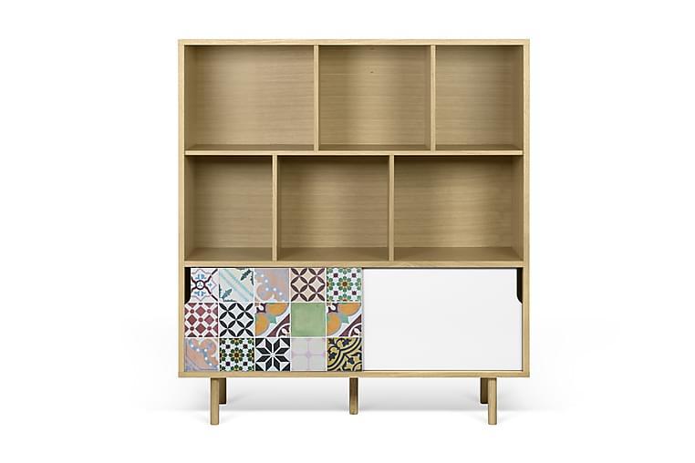 Temahome Wendan Skåp 135 cm Lapptäcksmönstrat - Flerfärgad - Möbler - Förvaring - Förvaringsskåp