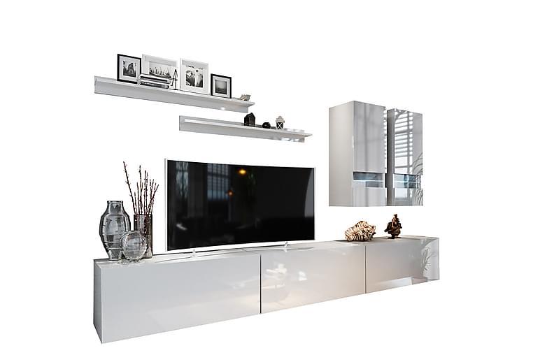 Torshus Väggenhet LED-belysning - Vit - Möbler - Förvaring - Förvaringsskåp