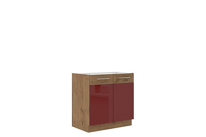 Vigo Skåp 80x52x82 cm - Beige Brun - Möbler - Förvaring - Förvaringsskåp