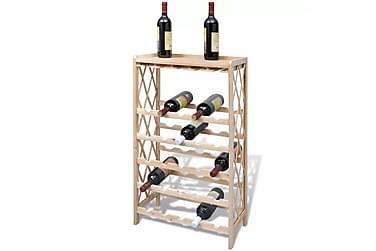 Vinställ för 25 flaskor trä