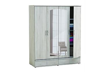 Abelina Garderob 172 cm 4 Dörrar Spegel