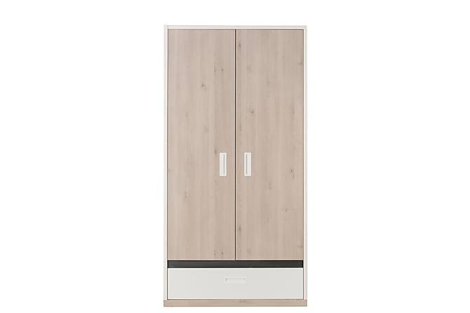 Antole Garderob 103 cm - Vit/Brun - Möbler - Förvaring - Garderober & garderobssystem