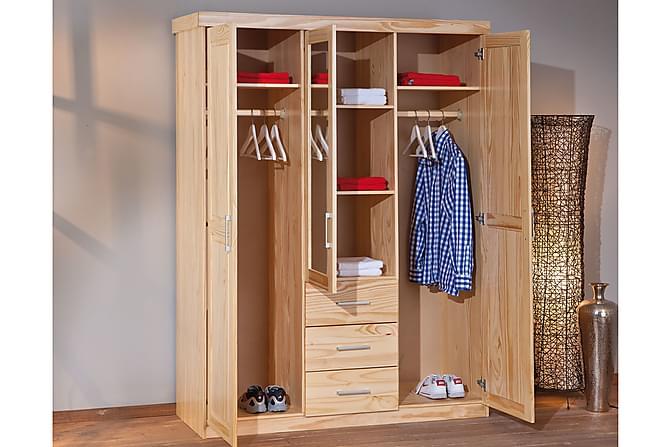 Bailey Garderob 140 cm Spegel - Furu - Möbler - Förvaring - Garderober & garderobssystem