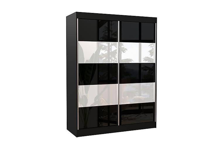 Bergo Garderob 150x200 cm - Svart - Möbler - Förvaring - Garderober & garderobssystem