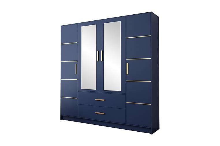 Bluti Garderob 201 cm - Blå - Möbler - Förvaring - Garderober & garderobssystem