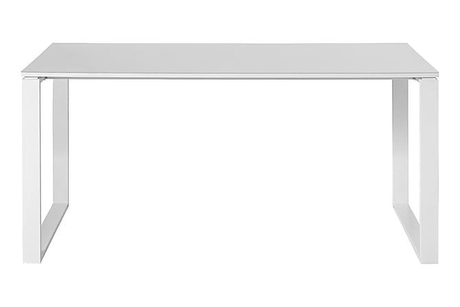 Cielo Skrivbord 80 cm - Vit/Metall/Glas - Möbler - Förvaring - Garderober & garderobssystem