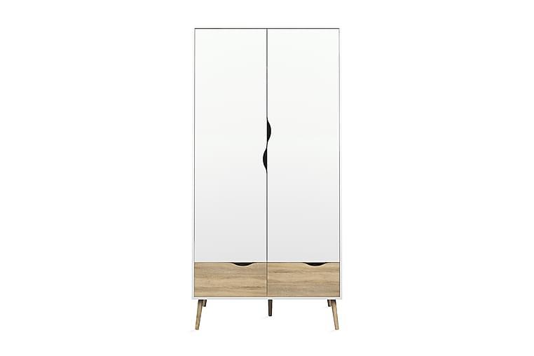 Delta Garderob - Ek Struktur/Vit - Möbler - Förvaring - Garderober & garderobssystem