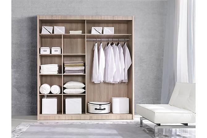 Elijah Garderob 200x60x215 cm - Grå/Vit - Möbler - Förvaring - Garderober & garderobssystem