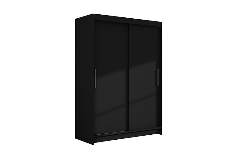 Estella Garderob 120 cm Skjutdörrar - Svart - Möbler - Förvaring - Garderober & garderobssystem