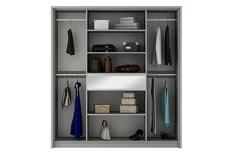 Garderob 200 cm - Vit - Möbler - Förvaring - Garderober & garderobssystem