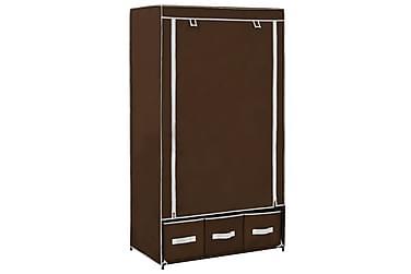 Garderob brun 87x49x159 cm tyg