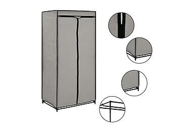 Garderob grå 75x50x160 cm