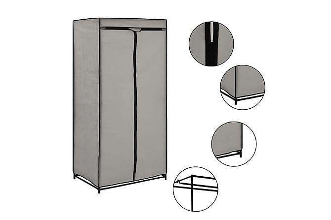 Garderob grå 75x50x160 cm - Möbler - Förvaring - Garderober & garderobssystem