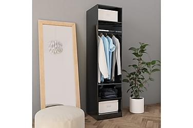 Garderob högglans svart 50x50x200 cm spånskiva