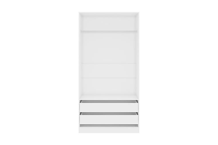 Garderob högglans vit 100x50x200 cm spånskiva - Vit - Möbler - Förvaring - Garderober & garderobssystem