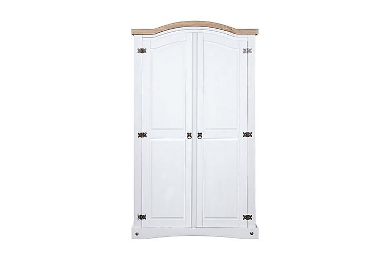 Garderob i mexikansk coronastil furu 2 dörrar vit - Vit - Möbler - Förvaring - Garderober & garderobssystem
