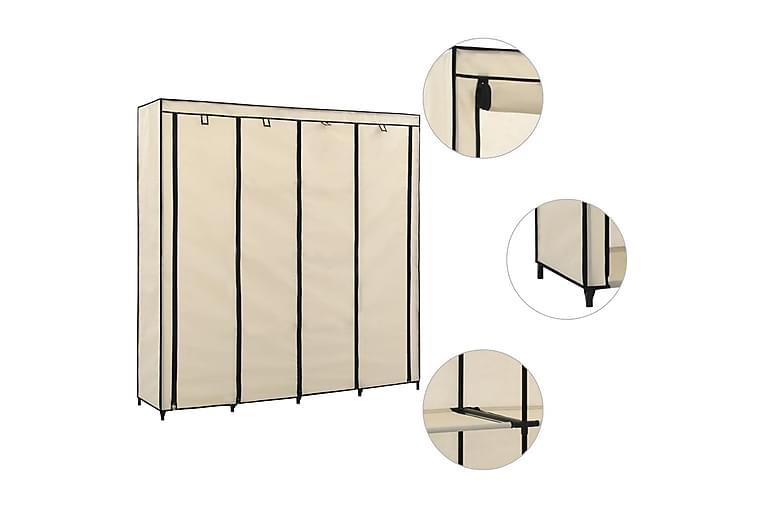 Garderob med 4 fack gräddvit 175x45x170 cm - Kräm - Möbler - Förvaring - Garderober & garderobssystem