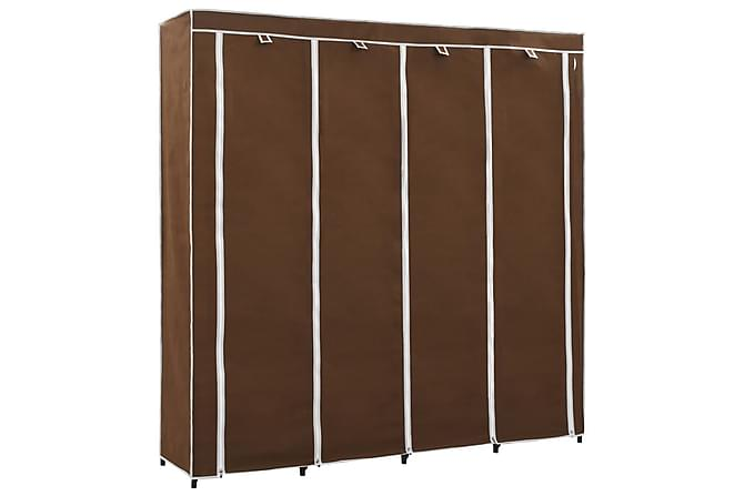 Garderob med 4 utrymmen brun 175x45x170 cm - Brun - Möbler - Förvaring - Garderober & garderobssystem