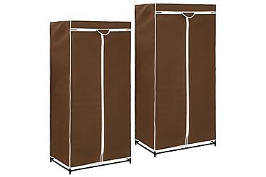 Garderober 2 st brun 75x50x160 cm