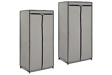 Garderober 2 st grå 75x50x160 cm