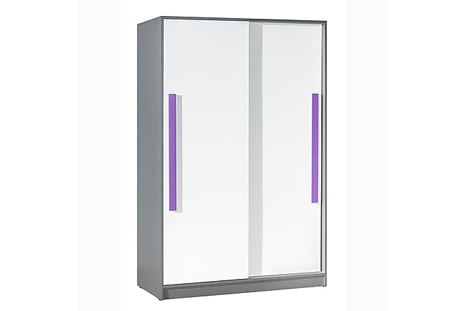 Git Garderob 120x60x191 cm - Lila Vit - Möbler - Förvaring - Garderober & garderobssystem