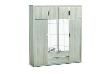 Gordonia Garderob 198 cm 4+4 Dörrar Speglar 2 Lådor