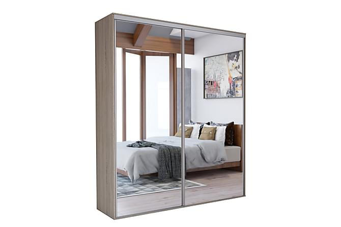 Grande Garderob 204x62x244 cm - Grå|Vit - Möbler - Förvaring - Garderober & garderobssystem