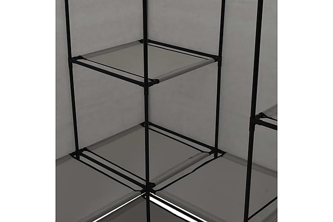 Hörngarderob grå 130x87x169 cm - Möbler - Förvaring - Garderober & garderobssystem