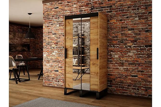 Loft Garderob 100x62x212 cm - Brun - Möbler - Förvaring - Garderober & garderobssystem