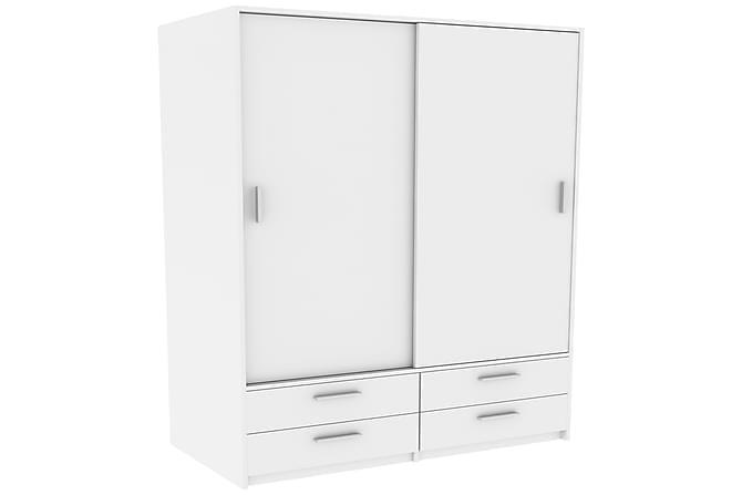 Marianne Garderob 120 cm - Matt Vit - Möbler - Förvaring - Garderober & garderobssystem