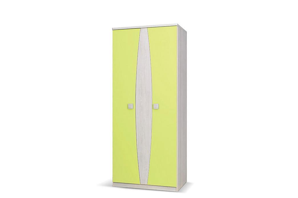Melda Garderob 80 cm - Vit/Gul/Grön - Möbler - Förvaring - Garderober & garderobssystem