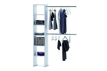 Millard Garderobssystem 140/240 cm 2 Klädstänger