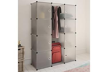 Modulär garderob 9 fack 37 x 115 x 150 cm vit