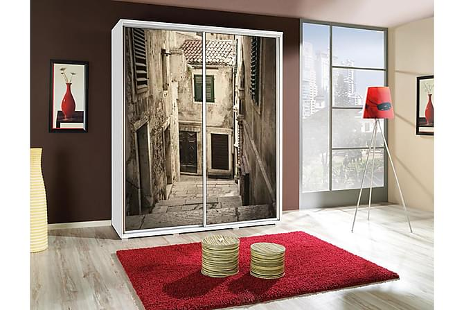 Penelopa Garderob 155x66x215 cm - Flerfärgad - Möbler - Förvaring - Garderober & garderobssystem