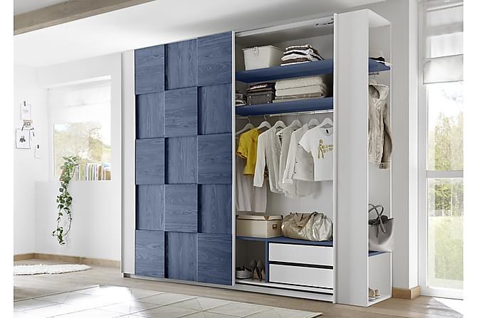 Periera Öppen Gavelgarderob 50 cm - Vit/Blå - Möbler - Förvaring - Garderober & garderobssystem