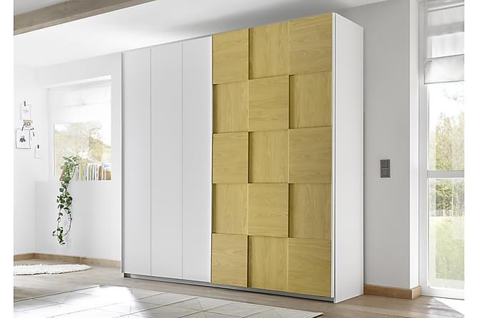 Periera Garderob med Skjutdörr 243 cm - Vit/Blå - Möbler - Förvaring - Garderober & garderobssystem