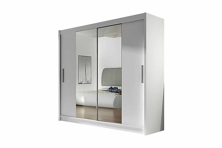 Prag Garderob Skjutdörrar Smal Spegel - Vit/Spegel - Möbler - Förvaring - Garderober & garderobssystem