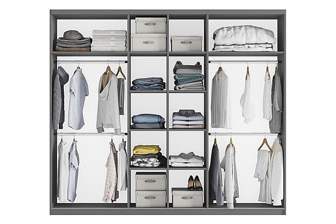 Praga Garderob 250x65x210 cm - Vit - Möbler - Förvaring - Garderober & garderobssystem