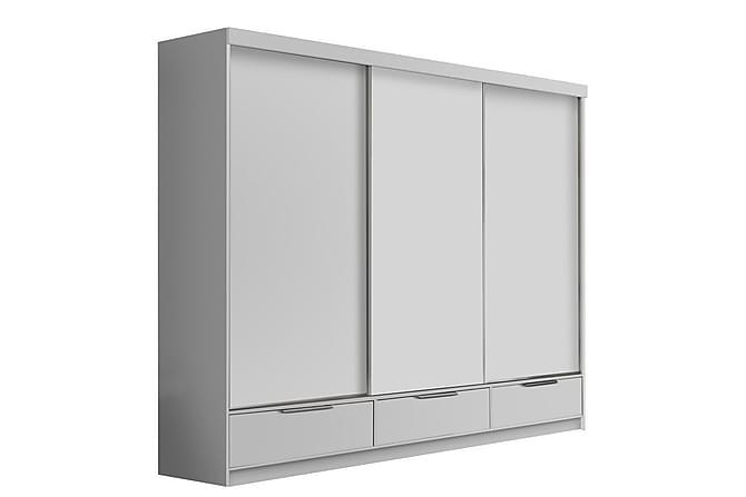 Premium Garderob 268x62x215 cm - Vit - Möbler - Förvaring - Garderober & garderobssystem