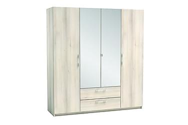 Quentin Garderob 186 cm 4 Dörrar 2 Lådor Spegel